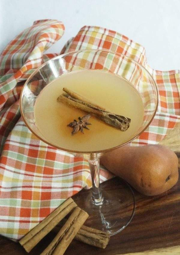 Cinnamon Pear Martini
