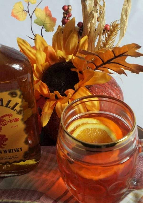Slow Cooker Fireball & Red Hots Spiced Apple Cider