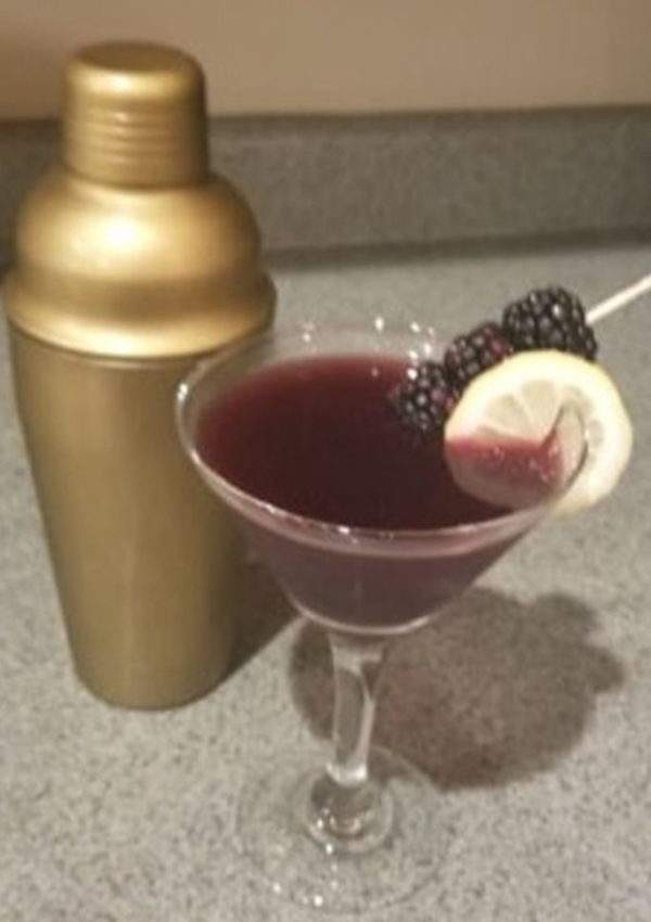 Wild and Witchy Cocktail – a Delicious Blackberry Martini